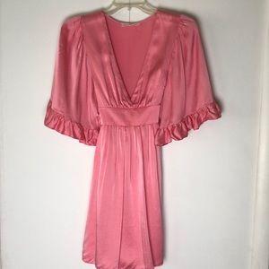 Betsey Johnson Pink Silk Kimono Dress